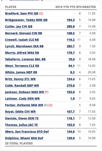2015 Fantasy Football MFL 10